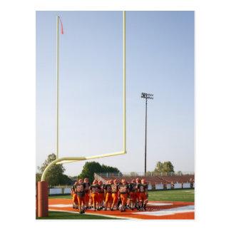 Jogadores de futebol americano, incluindo cartão postal