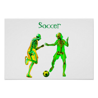 Jogadores de futebol pôster