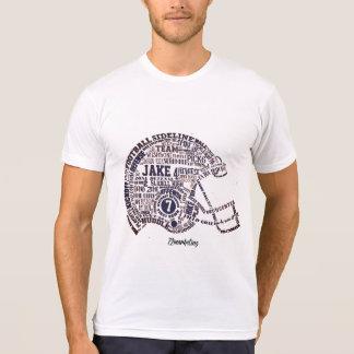 Jogadores SHS da camisa do capacete de futebol de