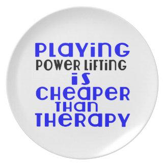 Jogando o levantamento do poder mais barato do que prato