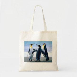 Jogando pinguins sacola tote budget
