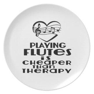 Jogar flautas é mais barato do que a terapia prato