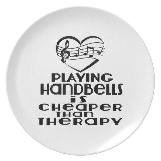 Jogar Handbells é mais barato do que a terapia Prato De Festa
