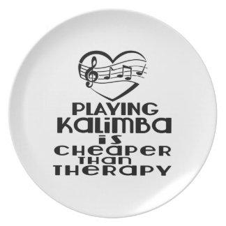 Jogar Kalimba é mais barato do que a terapia Prato De Festa