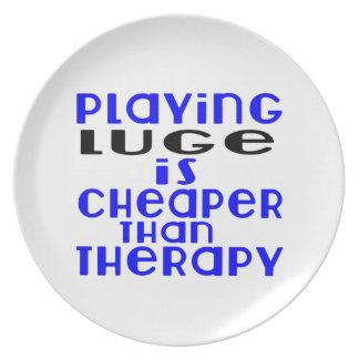 Jogar Luge mais barato do que a terapia Prato De Festa