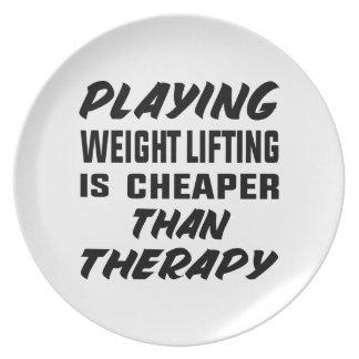 Jogar o levantamento de peso é mais barato do que prato
