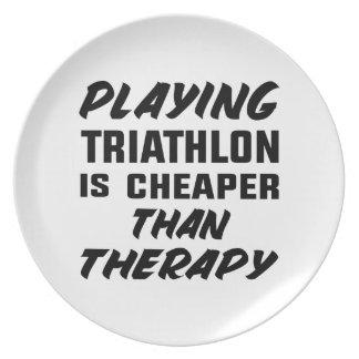Jogar o Triathlon é mais barato do que a terapia Prato