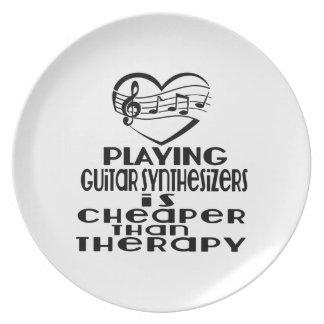 Jogar sintetizadores da guitarra é mais barato do prato de festa