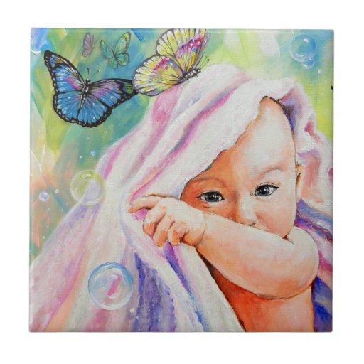 Jogo com borboletas azulejos