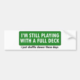 Jogo com uma plataforma de cartões completa adesivos