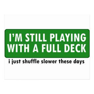 Jogo com uma plataforma de cartões completa cartões postais