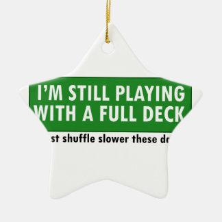 Jogo com uma plataforma de cartões completa ornamentos para arvore de natal