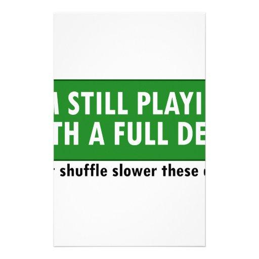 Jogo com uma plataforma de cartões completa papel personalizado
