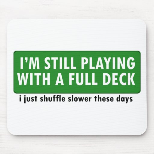 Jogo com uma plataforma de cartões completa mousepad