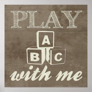 """""""Jogo comigo"""" impressão"""