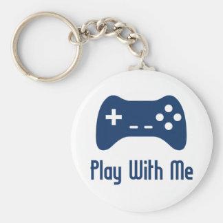 Jogo comigo jogo de vídeo chaveiro