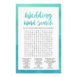 """Jogo da busca da palavra casamento"""" da caligrafia flyer"""