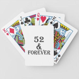 Jogo De Baralho 52 e para sempre design do aniversário