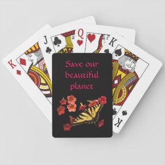 Jogo De Baralho A borboleta em flores salvar nossos cartões de