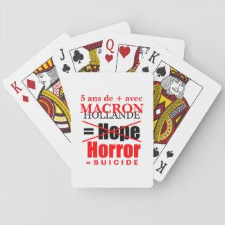 Jogo De Baralho A Holanda e Macron é o Horror mapas póquer