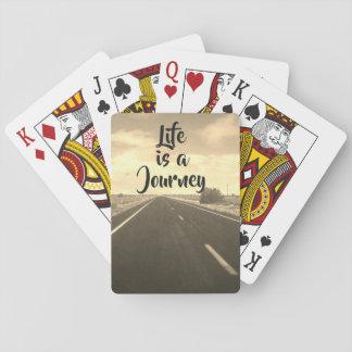 Jogo De Baralho A vida é uma viagem - cartões de jogo