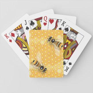 Jogo De Baralho Abelhas em cartões de jogo dos favos de mel