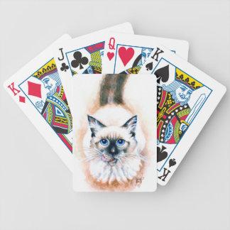 Jogo De Baralho Aguarela do gato Siamese