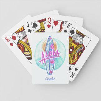 Jogo De Baralho Aloha cartões de jogo conhecidos feitos sob
