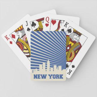 Jogo De Baralho Azul da Nova Iorque