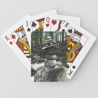 Jogo De Baralho Balance os cartões de jogo do equilíbrio da rocha