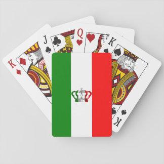 Jogo De Baralho Bandeira moderna do italiano de Italia da coroa do