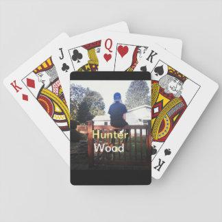 Jogo De Baralho Bloco completo de madeira dos cartões de jogo do