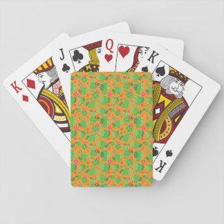 Jogo De Baralho Cacto mim cartões de jogo da parte externa