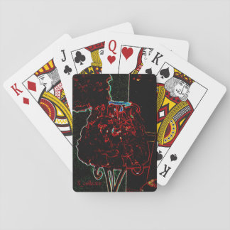 Jogo De Baralho Cartão da lâmpada da pétala de rosa vermelha