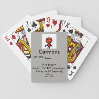 Jogo De Baralho Cartão do médico de Carmans