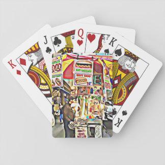 Jogo De Baralho Cartões com fotos do suporte do cachorro quente da