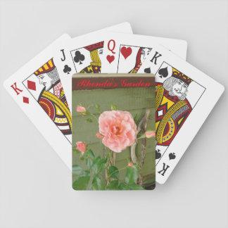 Jogo De Baralho Cartões cor-de-rosa do jardim de Rhonda