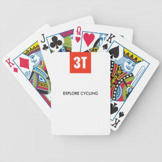 Jogo De Baralho cartões da bicicleta 3T