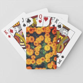 Jogo De Baralho Cartões de jogo alaranjados do cravo-de-defunto