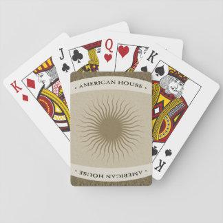 Jogo De Baralho Cartões de jogo americanos da casa - bronze