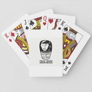 Jogo De Baralho Cartões de jogo anónimos do lixo principal