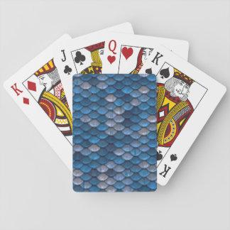 Jogo De Baralho Cartões de jogo azuis afortunados da escala do