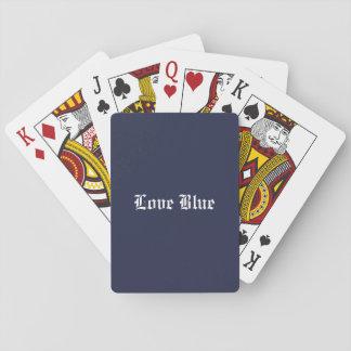 Jogo De Baralho Cartões de jogo azuis do amor