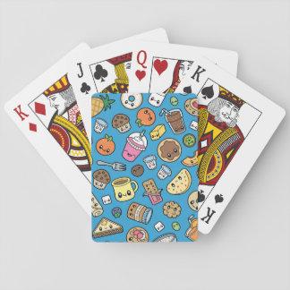 Jogo De Baralho Cartões de jogo bonitos da comida de pequeno