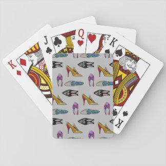 Jogo De Baralho Cartões de jogo, calçados do vintage