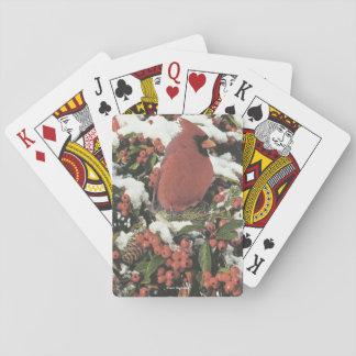 Jogo De Baralho Cartões de jogo cardinais do feriado