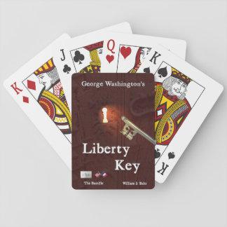 Jogo De Baralho Cartões de jogo chaves da liberdade de George