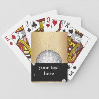 Jogo De Baralho Cartões de jogo clássicos, bola do disco do brilho