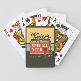 Jogo De Baralho Cartões de jogo clássicos da cerveja especial de