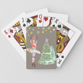 Jogo De Baralho Cartões de jogo clássicos do ano novo da bailarina